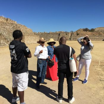 Me explaining the history of Monte Albán