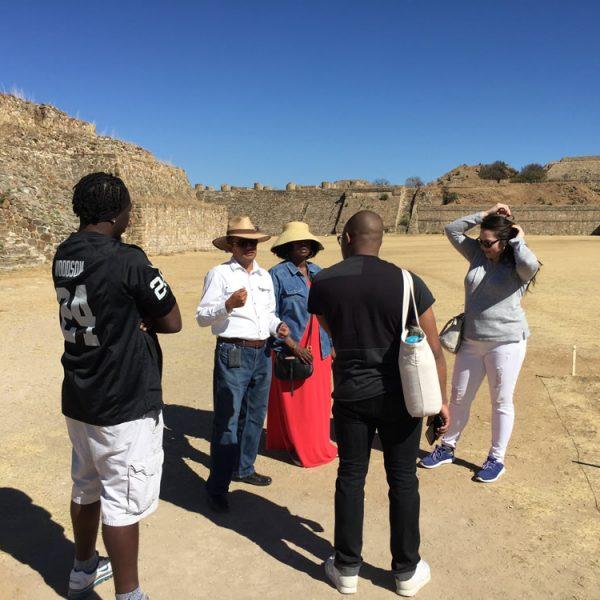 Me explaining the history of Monte Albán