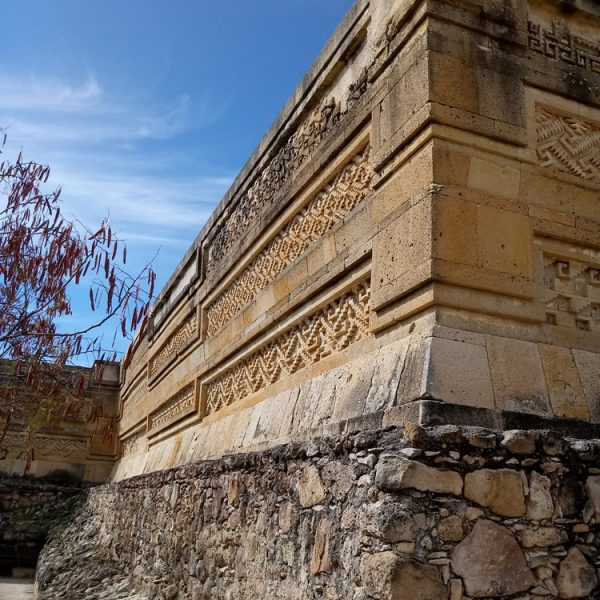 Intricate friezes of the Mitla ruins